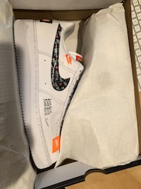 Air Force 1 just do it white size 10.5. Deadstock with receipt. Sold out to every where Alexandria, 22304
