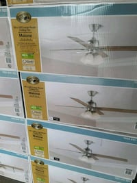 """NEW 54"""" BRUSHED NICKEL CEILING FAN WITH LED LIGHT"""