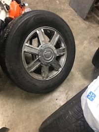 Rims with tires Cadillac center cap can be change Capitol Heights, 20743