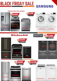 Pre Black Friday Sale For 3pc Bundle Appliance package Very Few In Stock Hurry No Need To Wait Till Black Friday Brampton