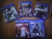 four Sony PS4 game cases Bakersfield, 93305