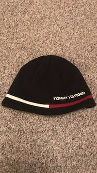 black, white and red Tommy Hilfiger beanie Columbus, 43026
