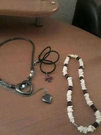 silver and black beaded necklace Fresno, 93727