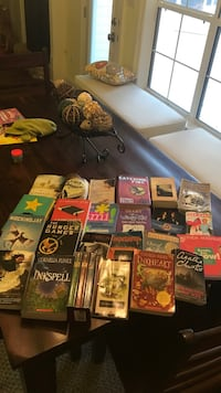 anne or green gables complete set, hunger games complete set, and other gently used books  1486 km