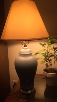 Vintage lamp with blue base