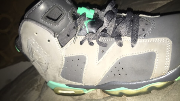 bca02d4b9fe7 Used unpaired white and green Air Jordan 6 shoe for sale in Austell ...