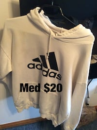 white and black Adidas pullover hoodie Cornwall, K6H 2R6