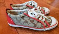 Women's COACH Signature Canvas & Red Sneakers Toms River, 08753