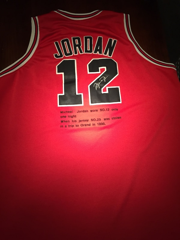 sale retailer d277e 05834 Michael Jordan jersey#12 V-Day Authentic Extremely Rare Mitchell&Ness