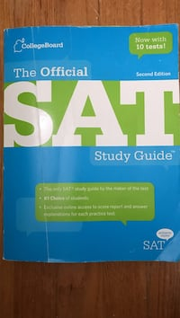 The Official SAT study guide book Warwick, 02889