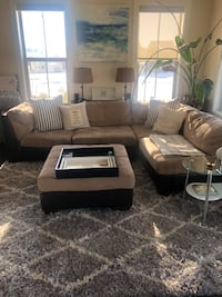 Fabric/Leather Sectional for Sale! OBO Monrovia, 21770