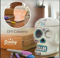 scentsy skull warmer With sharpies