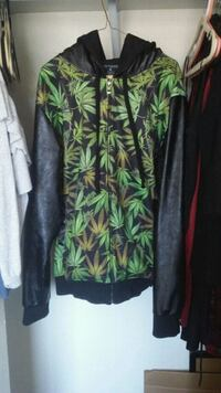 green and black floral long-sleeved dress