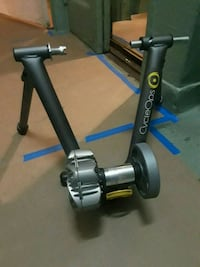gray and black stationary bike