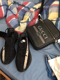 COMBO DEAL (pre owned gucci sling bag & brand new Yeezy 350 'oreo' Sault Ste Marie, P6B 5A9