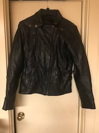 Women's Stylish Motorcycle Jacket- XL Heavy Leather- The Real Deal!