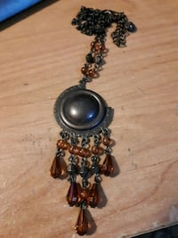 amber stone necklace ..