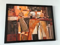 abstract paintings with black wooden frame Chicago, 60605