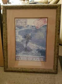 brown wooden framed palm tree near seashore painting