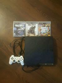 Ps3 with 3 games and 1 controller Halton Hills, L0P