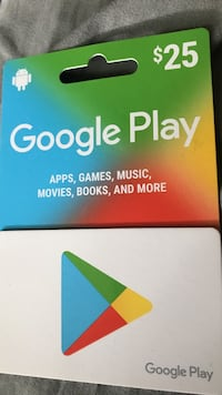 $25 Google Play gift card pack Throop, 18512