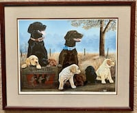"Dogs George Griffith ""GRIFF"" Print Framed 'Family Tradition' 559/1950 Norfolk, 23504"