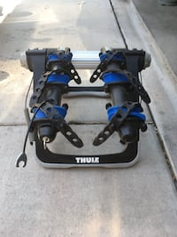 Black and blue Thule bicycle rack Albuquerque, 87114