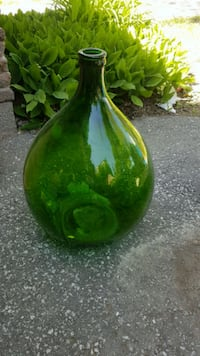 Large green antique wine bottle Scarborough, M1S 3M7
