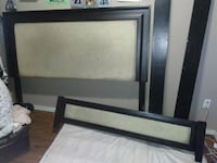 black and white wooden bed frame Regina, S4R 3W8