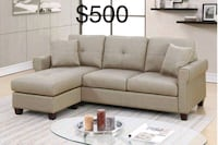 New Couch with Chaise only $50 down  Castaic, 91384
