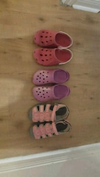 Size 3 youth Girls shoes sandals crocs