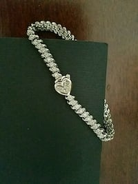 *14k white gold Diamond  Tennis bracelet Bethesda