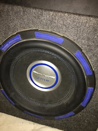 "Power acoustic gotchin 12"" subwoofer  1000W amp And box"