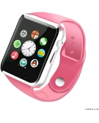 silver aluminum case Apple Watch with pink sports band Denver, 80204