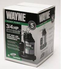 WAYNE CDU980E 3/4 HP Submersible Cast Iron and Stainless Steel Sump Pump With Integrated Vertical Float Switch New York, 11433