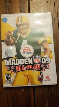 nintendo wii madden nfl 09 all-play game Almont, 48003