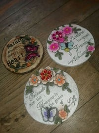 white, pink, and green floral ceramic plate Yonkers