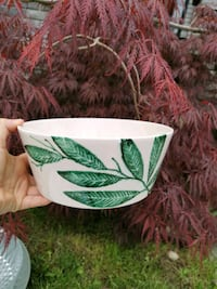 Decor bowl with palm painting