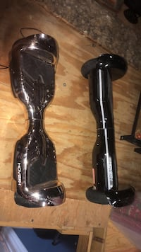 hover x1 hover boards, 100$ each, comes with separate chargers bluetooth speaker and leds built in and all works with a phone app, i've gotten them up to 20 mph roughly but recommend is 7-10 on the box black one has bigger wheels