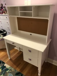 Pottery Barn Kids Catalina Storage Desk and Tall Hutch Whispering Pines