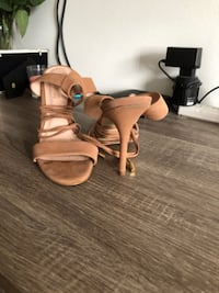 Genuine Leather Aldo Tie Up Heels Kitchener