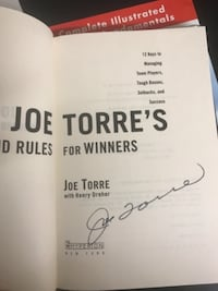 Joe Torres autograph book Fairfax