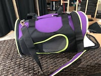 Black and pink dog carrier. Airplane approved  Calgary, T2H 0T9