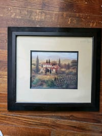 brown wooden framed painting of house Alexandria