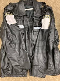 Police Motorcycle Leather Jacket  Alexandria, 22312