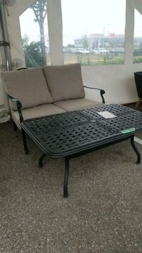Loveseat and coffee table with sunbrella cushions Vaughan, L4K 4T9