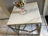 New small marble table with metal frame see pictures size LxWxH 20x20x20 all new asking $160 contact Richard  [TL_HIDDEN]  Toronto, M9V 4T4
