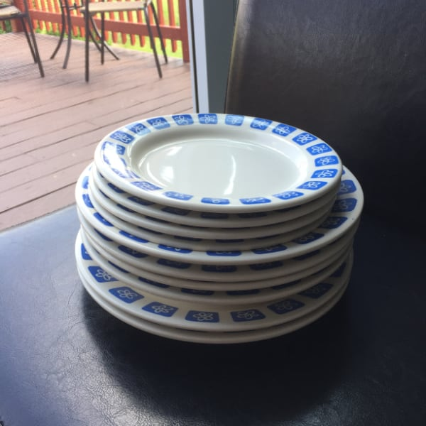 Blue and White Romanian Floral Dinnerware