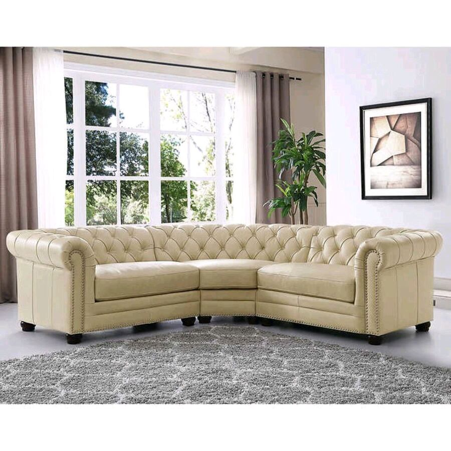Allington Top Grain leather Luxury Sectional (Hard to find)