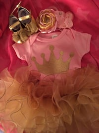 Girl's pink and beige tutu dress size for a one year old .  Edinburg, 78542